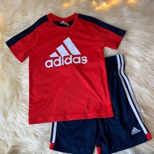 adidas Kids Red and Navy Active 2 PC Soccer Outfit